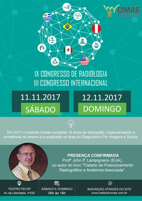 IX Congresso de Radiologia e III Congresso Internacional do Instituto Cimas