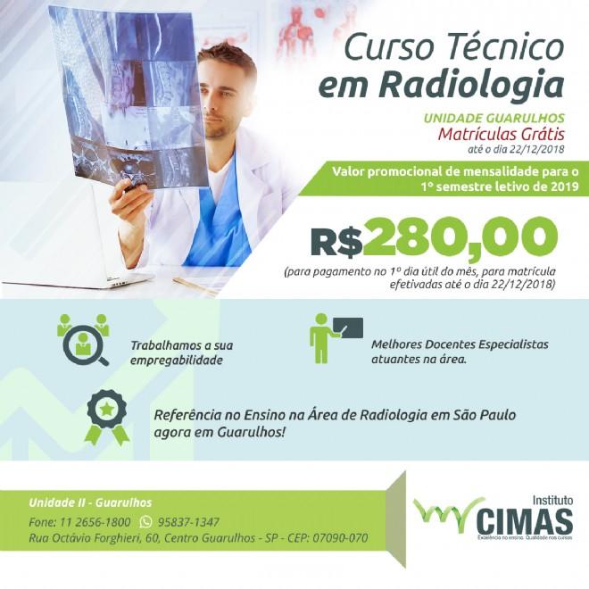 Curso técnico de Radiologia agora em Guarulhos e com promoção