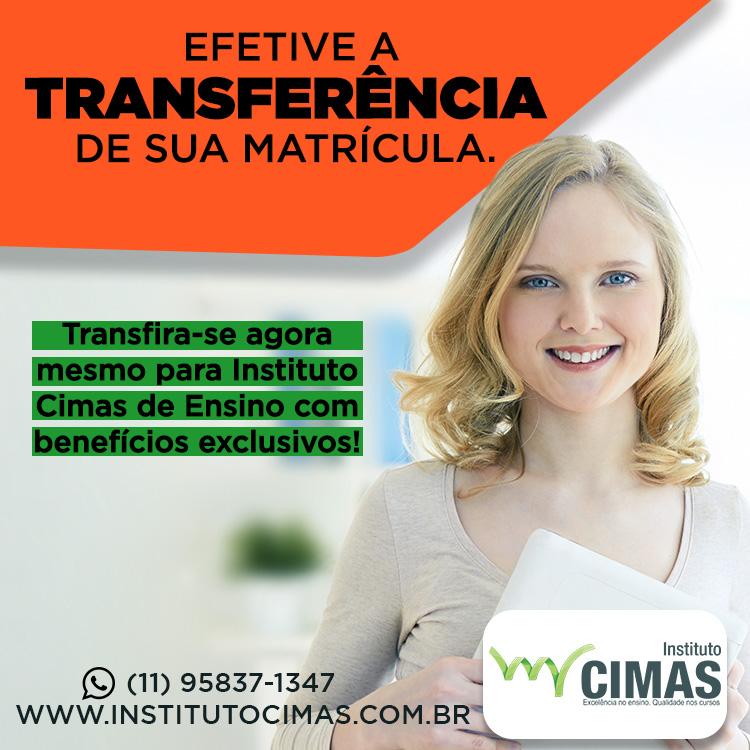 Promoção: Efetive a transferência de sua matrícula para quem é referência no mercado!